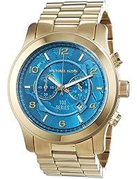 Michael Kors MK8315 - Reloj para hombres, correa de acero inoxidable chapado color dorado
