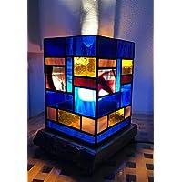 Lámpara hecha en vidrio de mesa