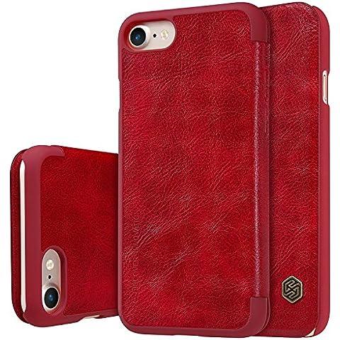 Nillkin ip7-qin-red funda de piel Para iPhone 7, Rojo