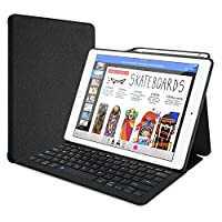 """ProCase Keyboard Case for iPad Pro 12.9"""" 2017/2015 with Built-in Apple Pencil Holder, Slim Lightweight Type Cover Folio Stand Smart Cover with Wireless Keyboard for Apple iPad Pro 12.9 inch -Black"""