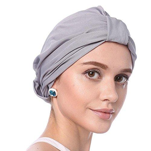 Modale Chemotherapie Cap Modal Turban hat modale Haarausfall Kappe Damen Elegante Reine Farbe Einfach Weich Chemo Turban Mütze Kopftuch Für Chemotherapie,Krebs,Haarverlust
