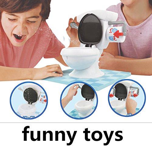 Lanlan Kinder Lustige gelegentliche Wasser Spray Toilette Trouble Spiel für Party Washroom Tricky Kinder Geschenke