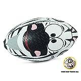 OPTIMUM Ballon de Rugby, Zèbre, Taille 4 Unisex-Adult, Multicolore, 4