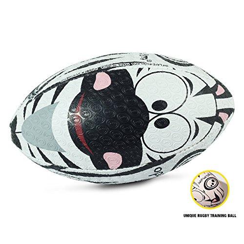 OPTIMUM Unisex-Youth Rugby Ball, Zebra, Mini, Mehrfarbig