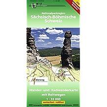 Nationalparkregion Sächsisch-Böhmische Schweiz: Wander- und Radwanderkarte. 1:33000, wetterfest, reißfest