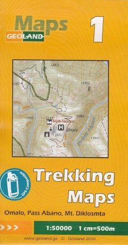 Omalo, Pass Abano, Mt. Diklosmta 1:50.000 carte trekking (Géorgie, Caucase) # 1