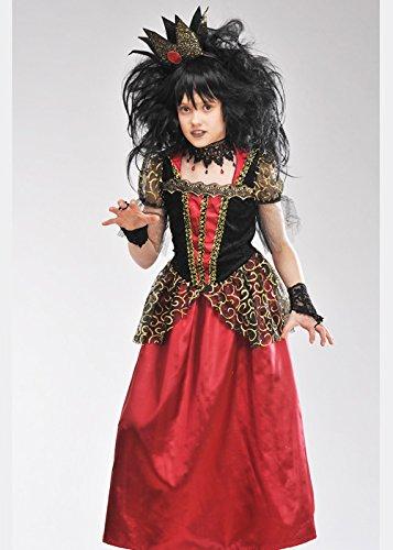 Mädchen Deluxe Gothic böse Königin Kostüm Small (4-6 years) (Deluxe Bösen Königin Kostüm)