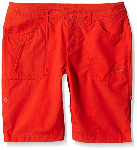 The North Face-Pantaloni corti Sunnyside dicono le donne taglia s, rosso, taglia 4