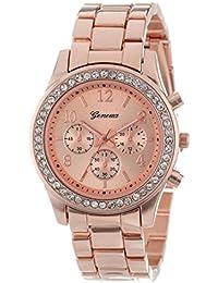 55a4ab1ce29d Vovotrade clásico de lujo mujer damas chica unisex reloj de pulsera de  cuarzo de acero inoxidable