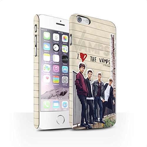 Offiziell The Vamps Hülle / Matte Snap-On Case für Apple iPhone 6 / Pack 5pcs Muster / The Vamps Geheimes Tagebuch Kollektion Band