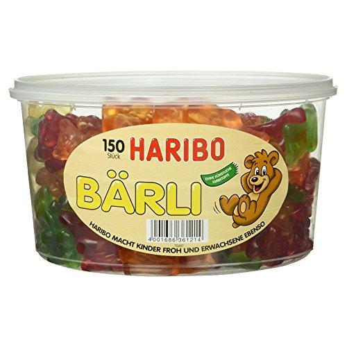Haribo Bärli, 150 Stück in der wiederverschließbaren Dose