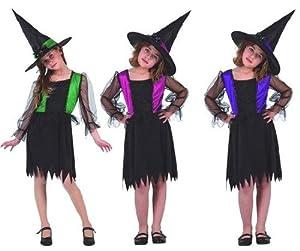 Atosa 5452 Disfraz bruja 3color surtido (no se puede escoger) 10-12 años, talla niña