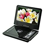 "GamutTek 9,8 ""mit drehbaren Display, DVD-Player unterstützen SD-Karte und USB Direct Play in den Formaten MP4 / AVI / RMVB / MP3 / JPE, schwarz"