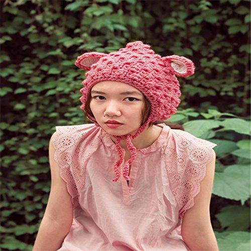 YXLMZ* meine hand gestrickte pullover im herbst und winter warmes herz,pink,l (56 58cm)