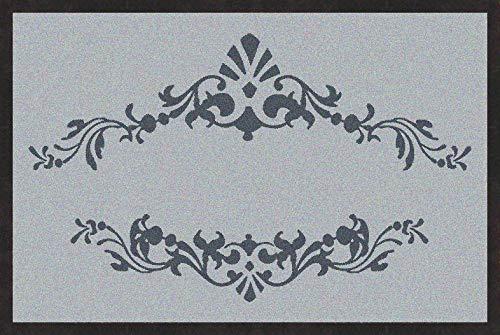 mymat Fußmatte Barock mit romantischem Muster / 75x50 cm