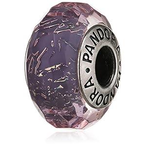 Pandora Damen-Charm Schillernd-Facetten 925 Silber Glas lila-791651