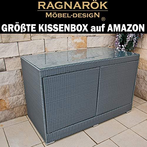 RAGNARÖK XXXL Kissenbox Größte PolyRattan Box auf AMAZON - DEUTSCHE MARKE -- EIGNENE PRODUKTION -...