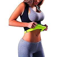 Iseymi - Chaleco para adelgazar; moldeador de figura mediante calor y sudor; camiseta moldeadora para pérdida de peso; camiseta sauna de tirantes; chaleco de neopreno, negro