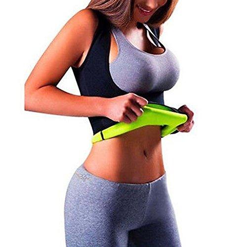Iseymi figurformender Damen-Body, Schwitz-Body zur Gewichtsreduzierung aus Neopren, schwarz, S (Shaper Gürtel Body)