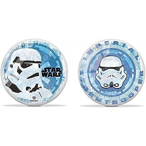 Brillante Bola de juego / Fútbol / Bola de playa - Star Wars - con Soldado imperial en azul/blanco aprox. 22