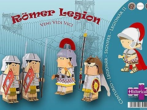 Veni Vidi Vici Legion Bastel-Set für Kinder - Römische Bastelbogen - Forum Traiani - mit selbsterklärender Bastelanleitung