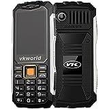 Vkworld Stone V3S / Zilong Teléfono Móvil Impermeable de IP54 Protección a Prueba de Agua y Polvo y Golpes con Batería 2200mAh que Trabaja 720 horas para Exterior ( Negro )
