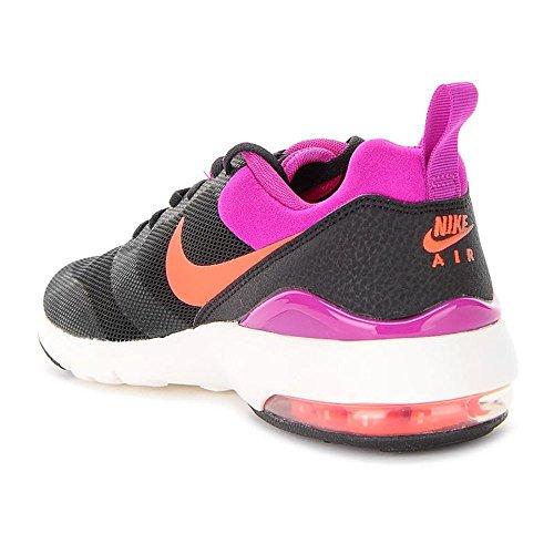 Nike Women's Nike Air Max Siren Platinum Green Running Shoes Black-Orange-Pink
