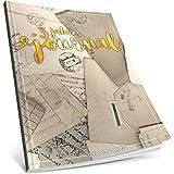 Dékokind® 3 Jahres Journal: Ca. A4-Format, 190+ Seiten, Vintage Softcover • Dicker Jahreskalender, Tagebuch für Erwachsene, Kalenderbuch • ArtNr. 06 Briefe • Ideal als Geschenk