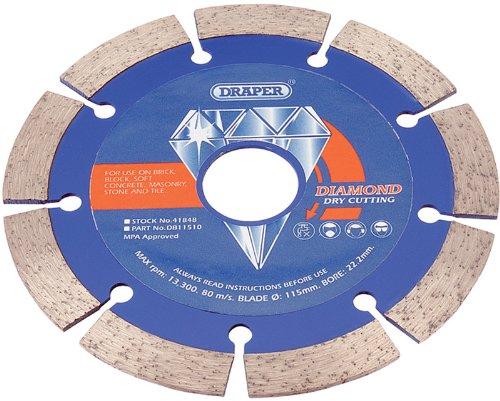 Draper 41848 115 X 22.2Mm Segmented Diamond Blade