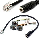 4P4C Cordon téléphonique RJ9 / RJ10 à 3.5mm femelle pour casque stéréo Câble téléphonique pour iPhone Téléphones IP Cisco 7931G 7940 7941 7942 Plantronics MX10 Vista Modulaire 30CM