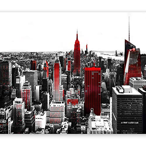 murando Papier peint intissé 350x256 cm Décoration Murale XXL Poster Tableaux Muraux Tapisserie Photo Trompe l'oeil New York rouge gris 10110904-61