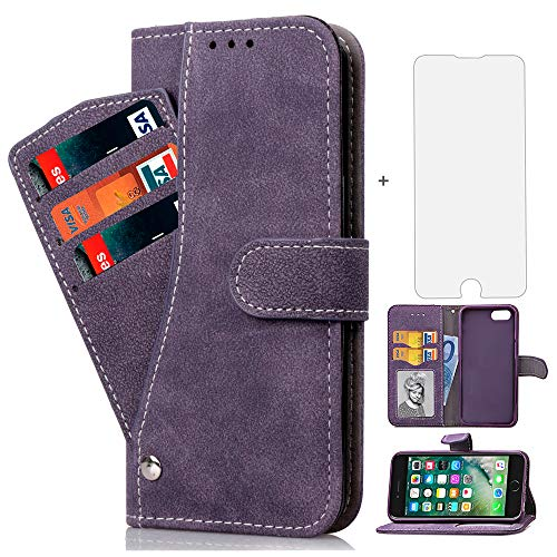 cd742980d1 iPhone 7 8 7s 8s Case i Phone Cases Wallet Shockproof with Card Holder Slot  Tempered