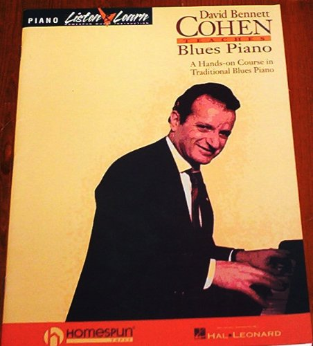 David Bennett Cohen Traditional Blues Piano Tutor Jazz Instruction Book Volume 1 (sorry no CD) Published 1998