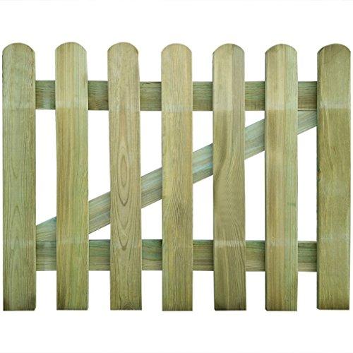 vidaXL Cancello in legno per giardino 100 x 80 cm