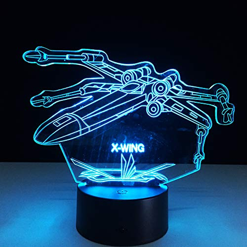 Flugzeug LED 3D Nachtlicht 7 Farbwechsel Remote Touch USB Flugzeuge 3D Illusion Led Tischlampe Kinder Schlafzimmer Dekor Geschenk ## 7