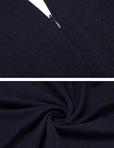 Zeagoo Damen Vintage Sommerkleid Cockailkleid Partykleid Elegant Kleid Skater A Linie mit Schnürung Blau
