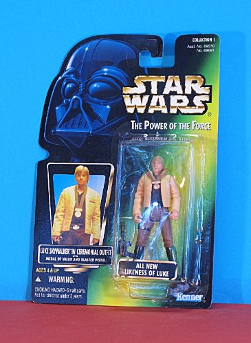 Star Wars - Luke Skywalker in Cermonial Outfit - Power of the Force - Kenner