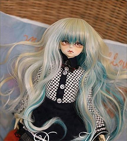 Tita-Doremi BJD Poupée Perruque Ball-jointed Doll 1/3 8-9 Inch 22-24cm Dollfie Pullip SD DOD DD Blonde Mix Curl doll Toy Head Perruque Cheveux (Perruque Seulement,pas une poupée )