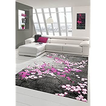 tapis beige noir tapis moderne tapis fleurs salon salle de s jour tapis 160 x 230 cm. Black Bedroom Furniture Sets. Home Design Ideas