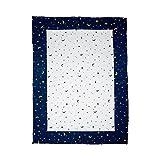 Krabbeldecke Mond und Sterne 100x140 cm