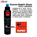 RUPES Pasta ABRASIVA Big Foot LUCIDATURA CARROZZERIA Auto, Zephir Gloss Coarse (Blu) 150 ml