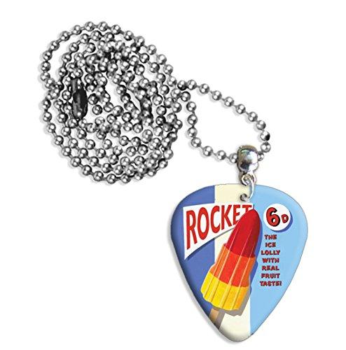 Rocket Ice Lolly Martin Wiscombe Púa Para Guitarra Collar Necklace Vintage Retro