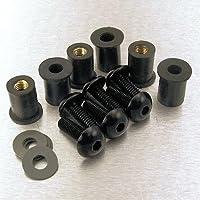 Kit Visserie Bulle Aluminium 6 Vis (noir)