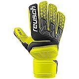 Guanti da Portiere Calcio Reusch Prisma SG Extra Palmo Colour Fluo Attack! (10,5, jaune fluo/noir/jaune fluo)
