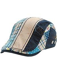 Xiang Casquillo al aire libre superior plano del ocio del casquillo del sombrero del Todo-fósforo de los hombres del sombrero de la boina Mixed Color