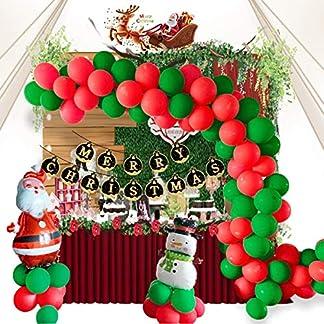 Suministros para fiestas de Navidad, 106 piezas de telón de fondo, decoración de Feliz Navidad, muñeco de nieve, globos de Papá Noel