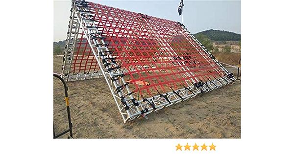 Netz f/ür Outdoor-Seil Kletterseil 1 x 1 m Cargo-Netz Sportnetz YUEXING Kletternetz Leiter Kletternetz f/ür Erwachsene und Kinder