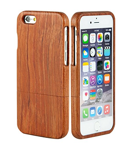 SunSmart iPhone 6 Plus 5.5'' Case Manuel Bois Protective Hard Back Case Cover pour Apple iPhone 6 plus 5.5'' ?palissandre? palissandre