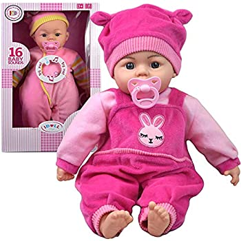 28a8feef1c 18 Inch New Born Soft Bodied Baby Doll Toy with Dummy Baby Sounds Crying  Talking Baby Sounds   Gift Box