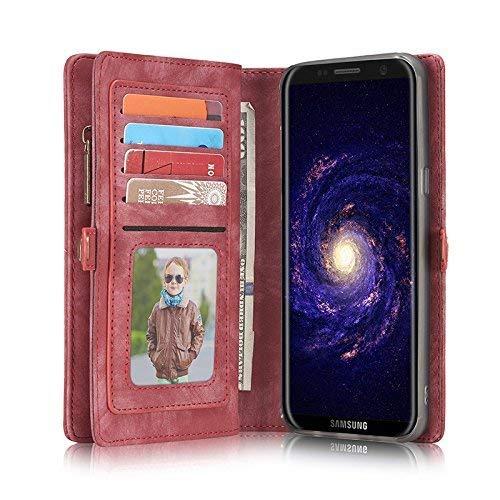 Samsung Galaxy S9 Plus Hülle,Miya PU Leder Retro Vintage Wallet Case Brieftasche Flip Case Cover Schütz Hülle Abdeckung Ledertasche für Samsung Galaxy S9 Plus (Schwarz)- Rosa (- Geldbeutel-handy-fällen, Samsung)
